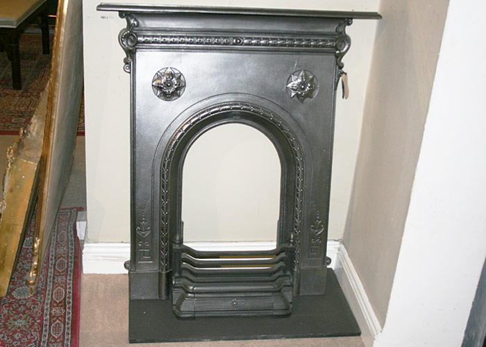 Victorian cast iron fireplace for Victorian corner fireplace